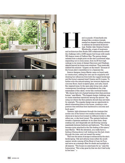Project Details in Gray Magazine Featuring Niche Modern Pendant Lighting