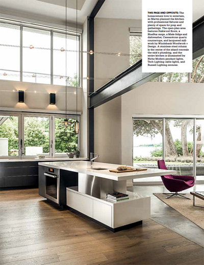 More Project Details in Gray Magazine Featuring Niche Modern Kitchen Pendant Lighting