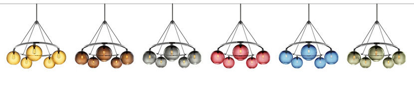 Color Options for the Customizable Modern Chandelier Collection