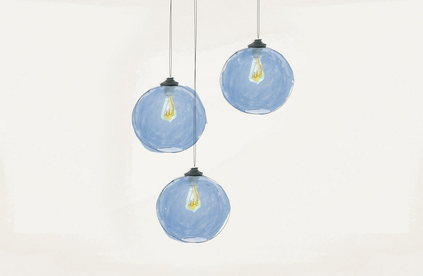 Our Handmade Pendant Lights Begin with a Sketch
