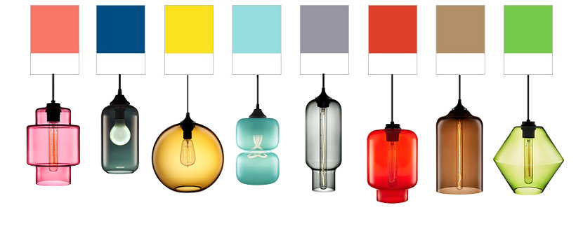 Pantones Spring Color Trends Reflect Modern Lighting Glass Colors