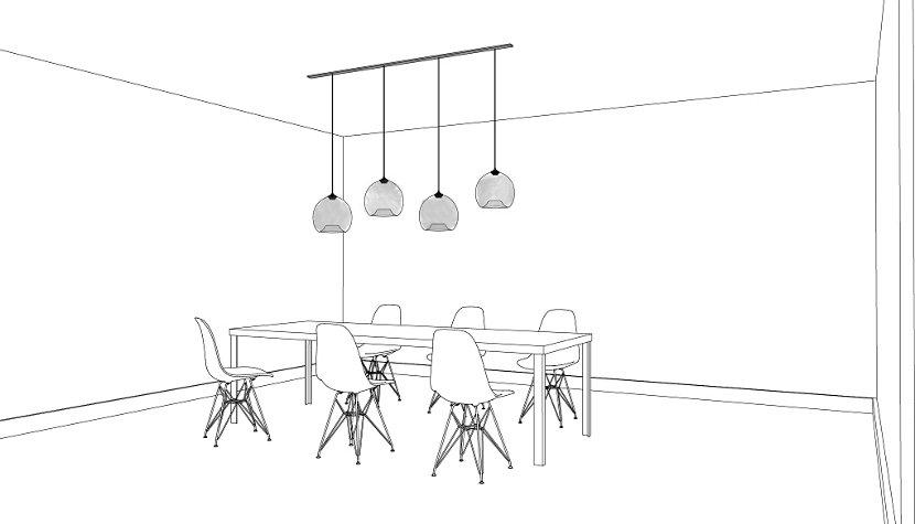 Inspirational interiors for your stamen pendant lights aloadofball Choice Image
