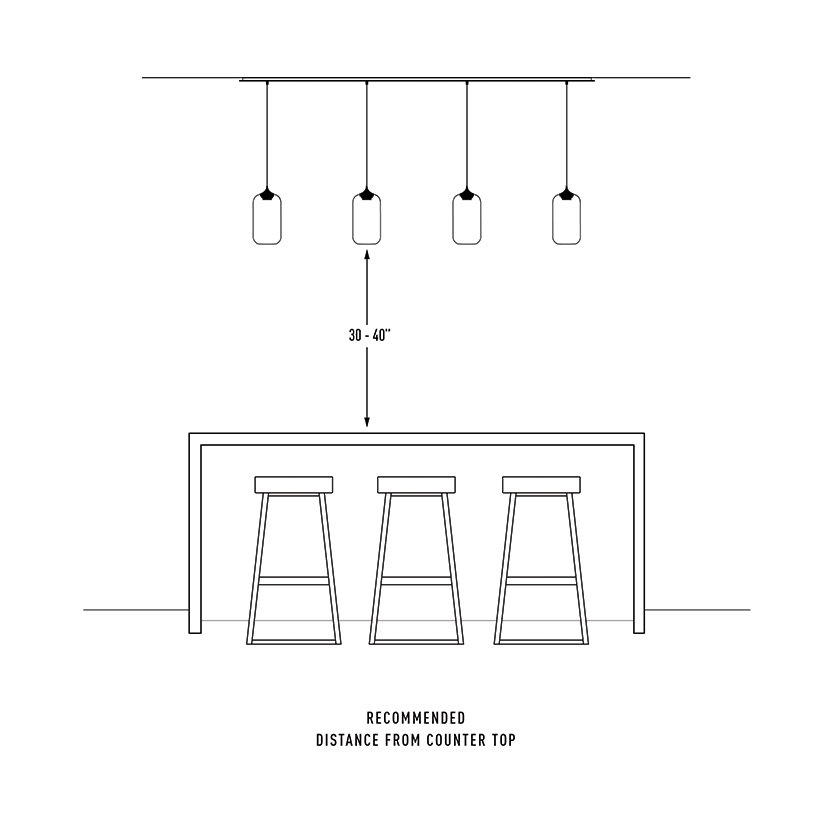 Pendant Light Height Above Bar Top : How high to hang pendant lights