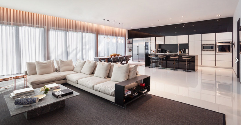 Miami Beach home interior