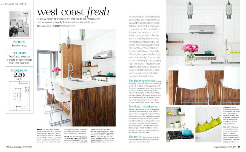 Modern kitchen island lighting inside style at home magazine Modern kitchen design magazine