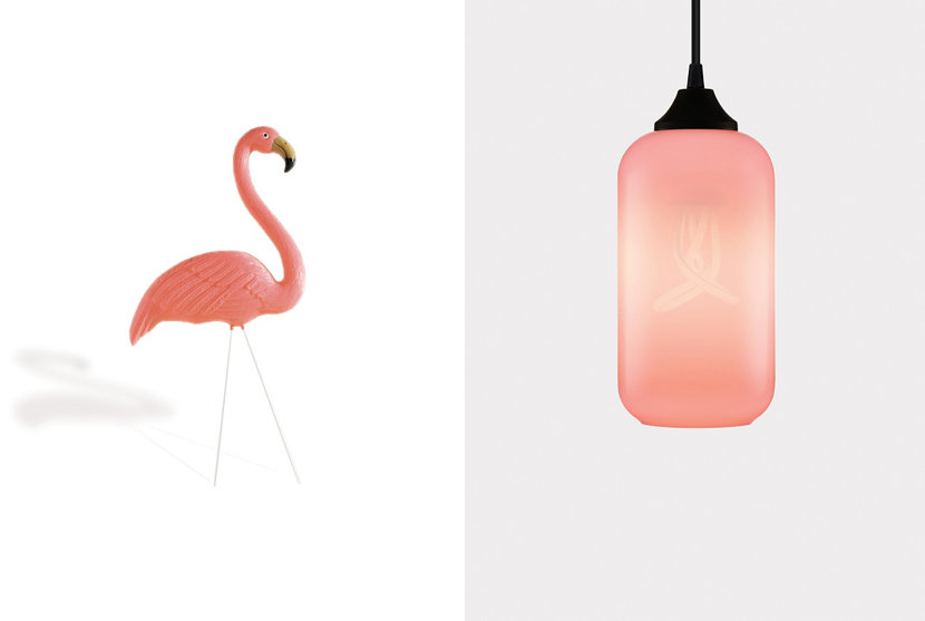 Summer Solstice - Flamingo Colored Glass