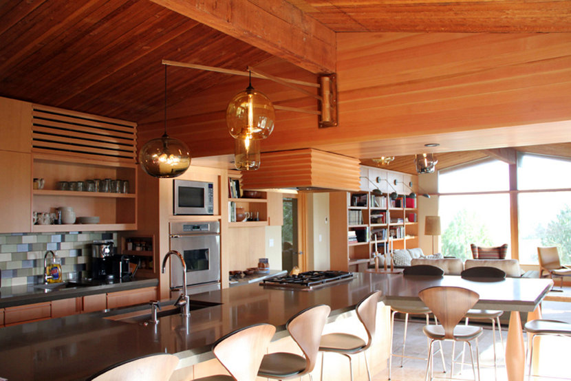 3 Kitchen Table Pendant Lighting Installations Embrace Mid Century