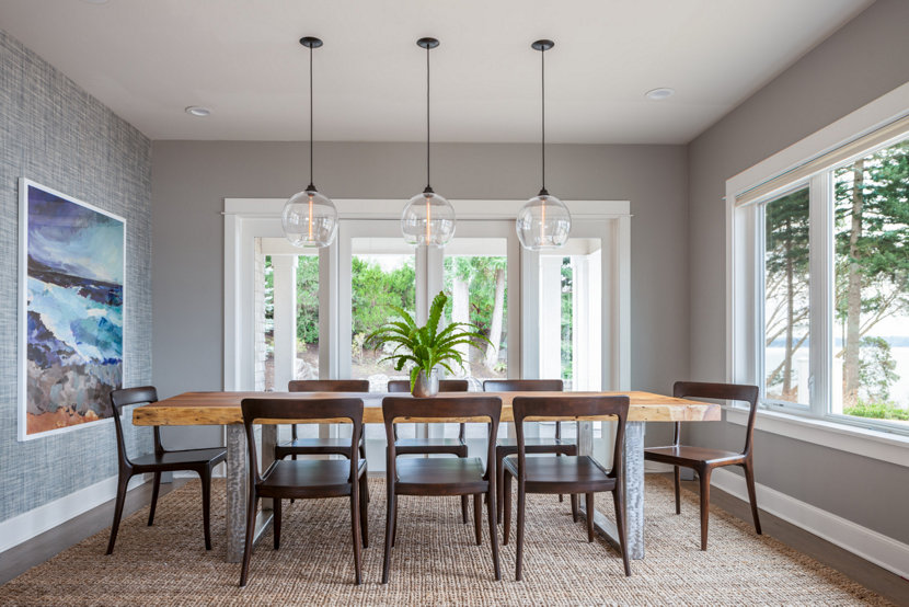 Island interior with dining room pendant lighting trending on houzz aloadofball Images