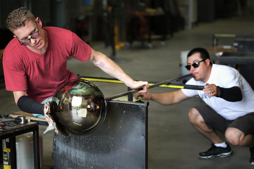 See Live Glass Blowing at the Spring Factory Sale