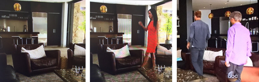 Niche amber Stamen pendant lights on The Bachelorette television show