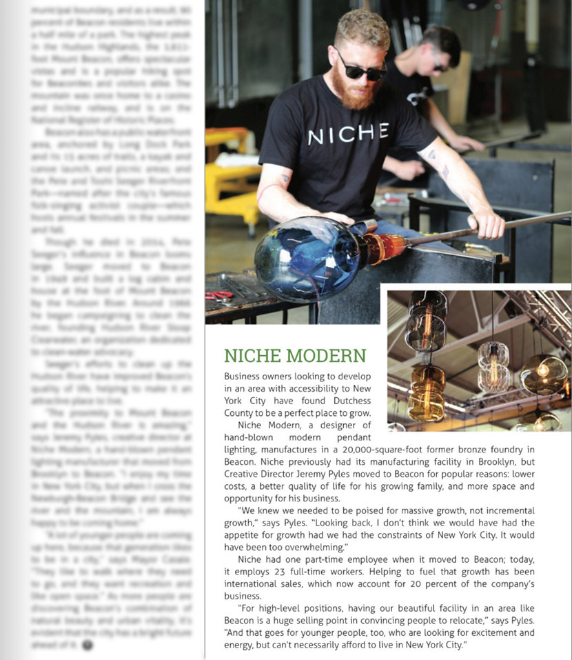 Modern Lighting Company Featured in Think Dutchess Magazine
