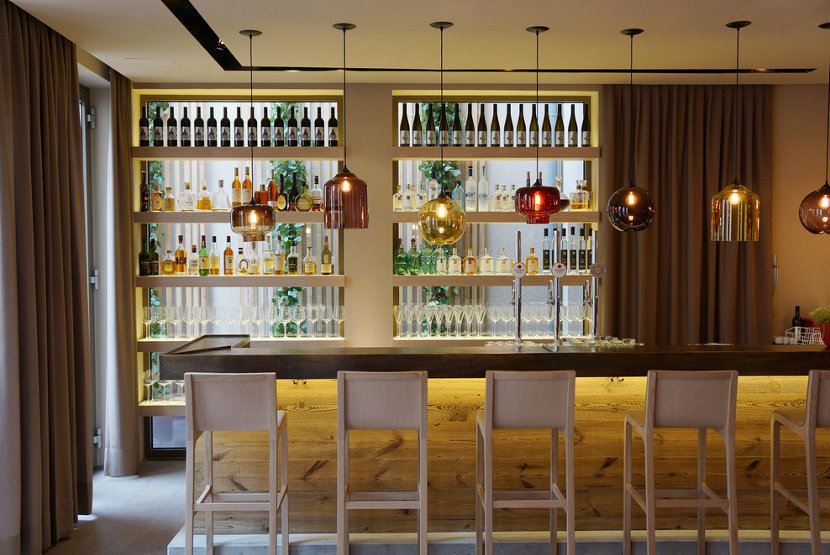 Hotel Dollerer bar pendant lighting