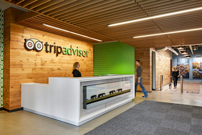 Trip Advisor headquarters front desk