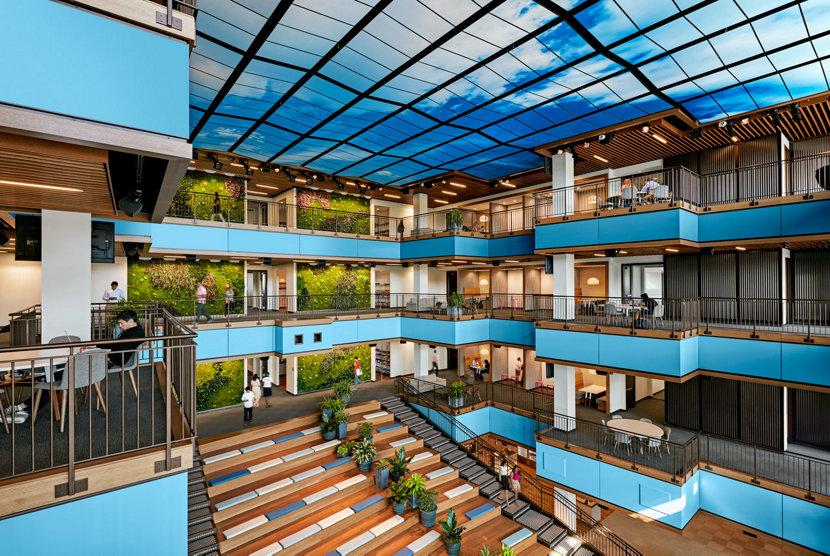 Trip Advisor headquarters interior of building