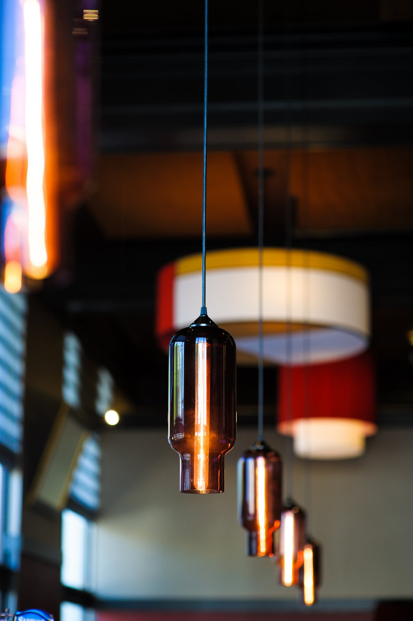 Hand-Blown Bar Pendant Lighting - Plum Pharos