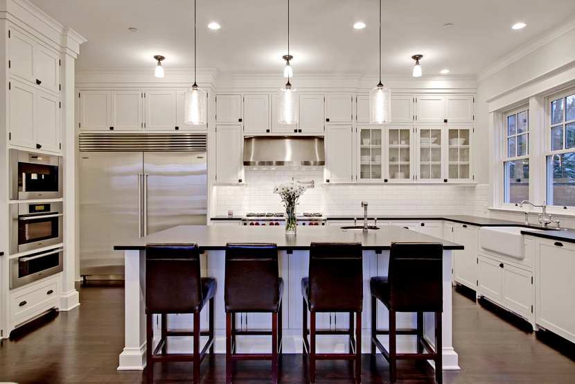 Niche Modern Kitchen Island Lighting Illuminates Custom Seattle Home