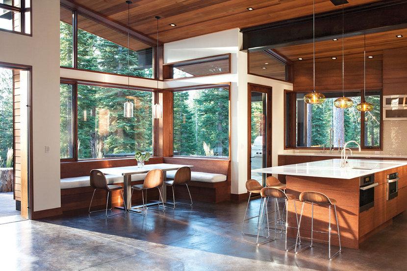 Aurora and Bella Modern Pendant Lights Hang in Open Floor Plan