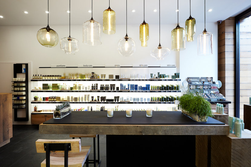 4 retail stores with modern pendant lighting clusters aloadofball Image collections