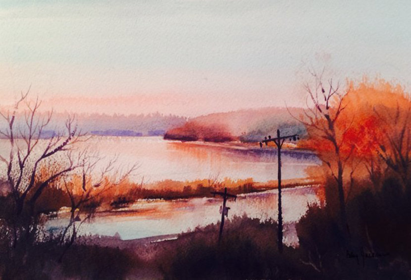 watercolor by Betsy Jacaruso