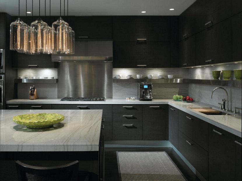 Gold Coast Condo Incorporates Contemporary Kitchen Lighting