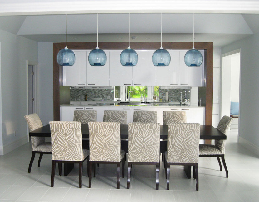 Dining room pendant lighting hits the beach for Dining room pendant lights