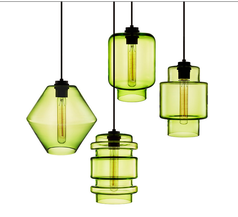 The Crystalline Series in Chartreuse Glass