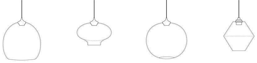 modern pendant light line drawings