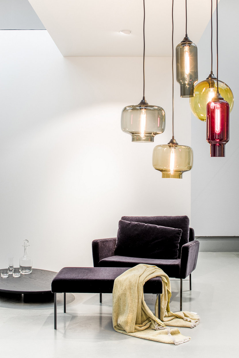 Blown glass light fixtures handmade in new york