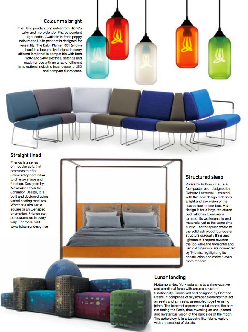 compact colorful glass pendant lighting in Trends Magazine India