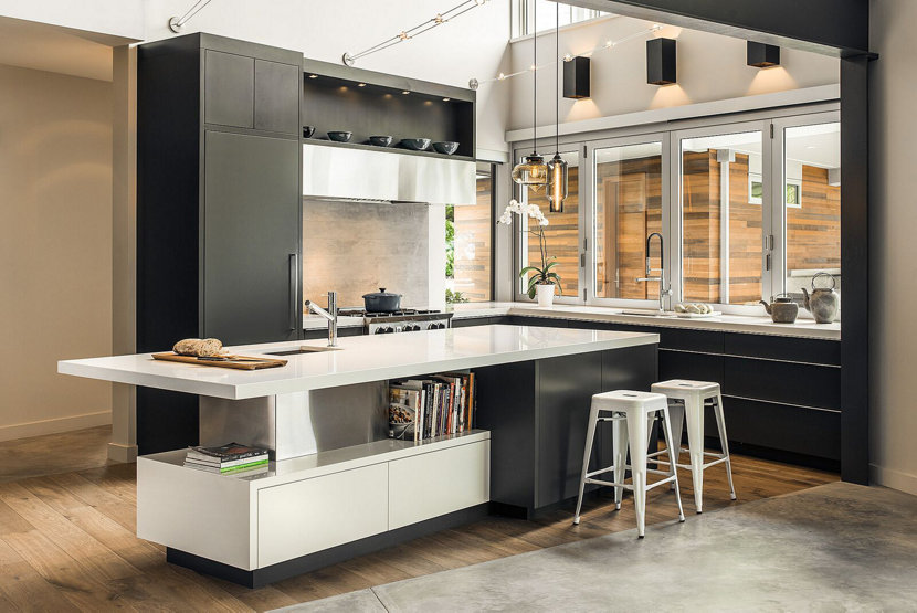 Gray magazine features modern kitchen pendant lighting in Modern kitchen design magazine
