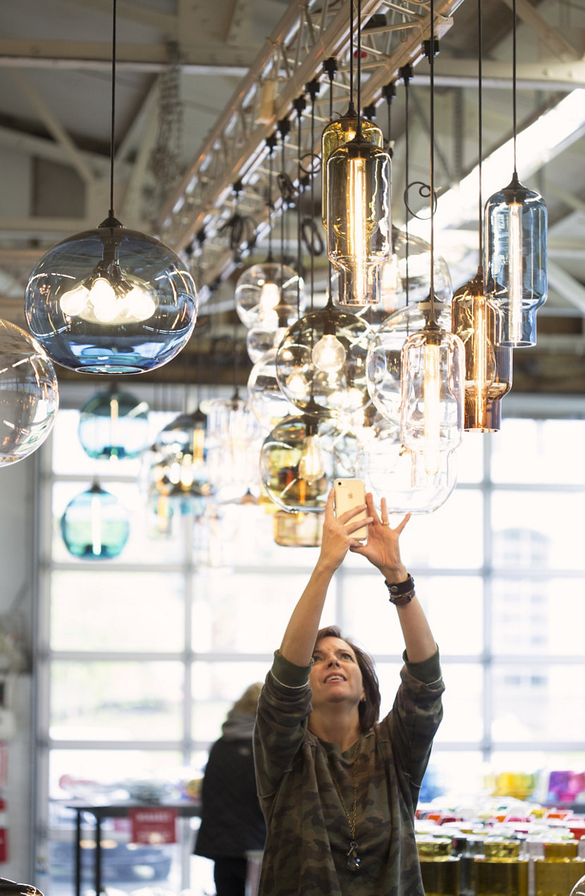 Finding home farms finds pendant lighting for new sugarhouse at niche factory sale