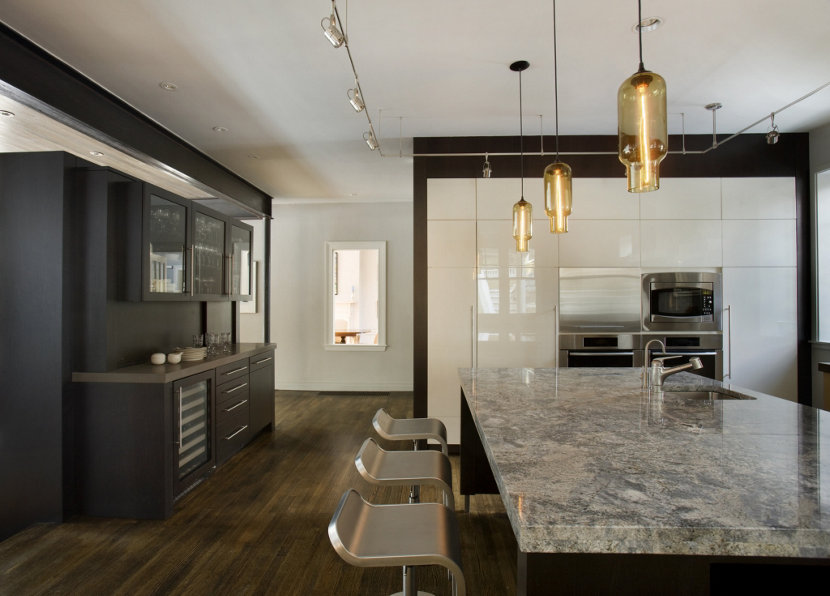 kitchen island pendant lighting in leed certified home - Interior Design Leed Certification