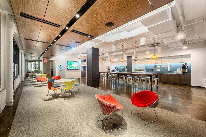 Havas Break Room Featuring Niche Modern Office Pendant Lighting