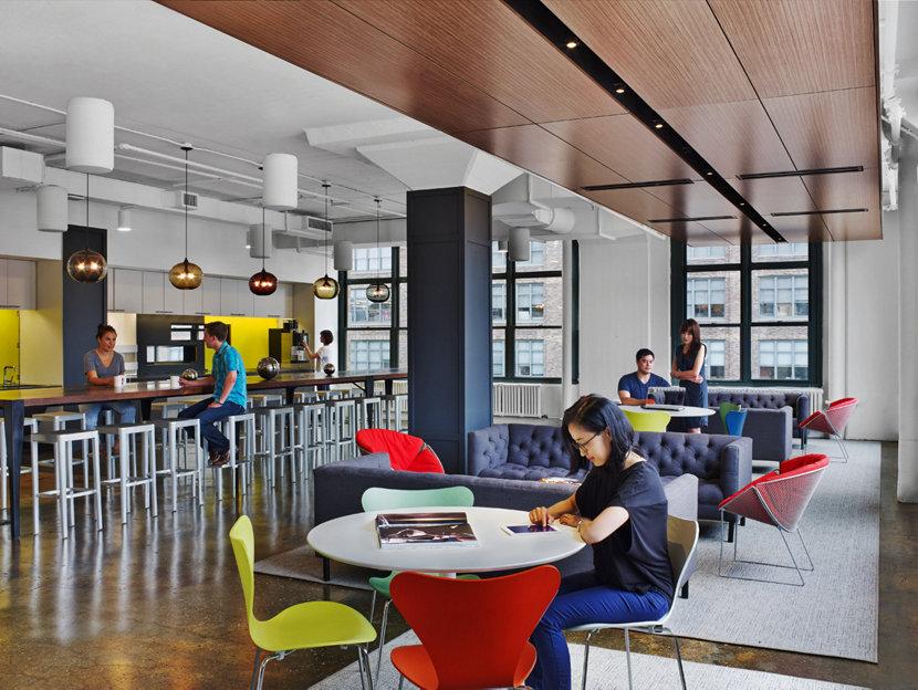 Office Modern Pendant Lighting Hangs in Havas Worldwide Headquarters