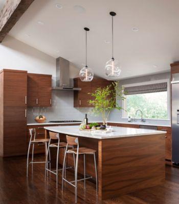 Kitchen Island Pendant Lights Shine Bright in Seattle Home