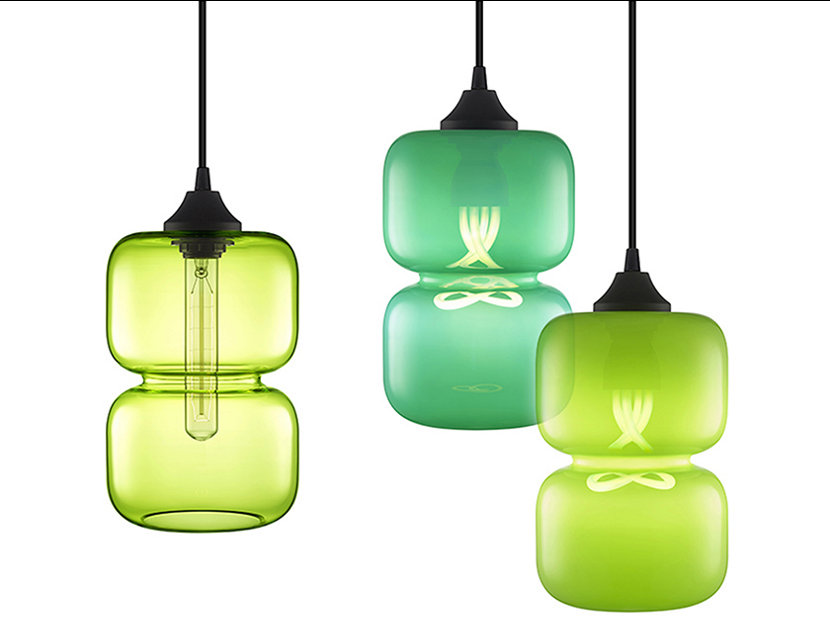 The Pinch Collection Features Luxurios Shades of Green Glass Colors