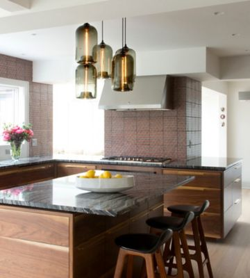 modern kitchen island glass pendant lighting