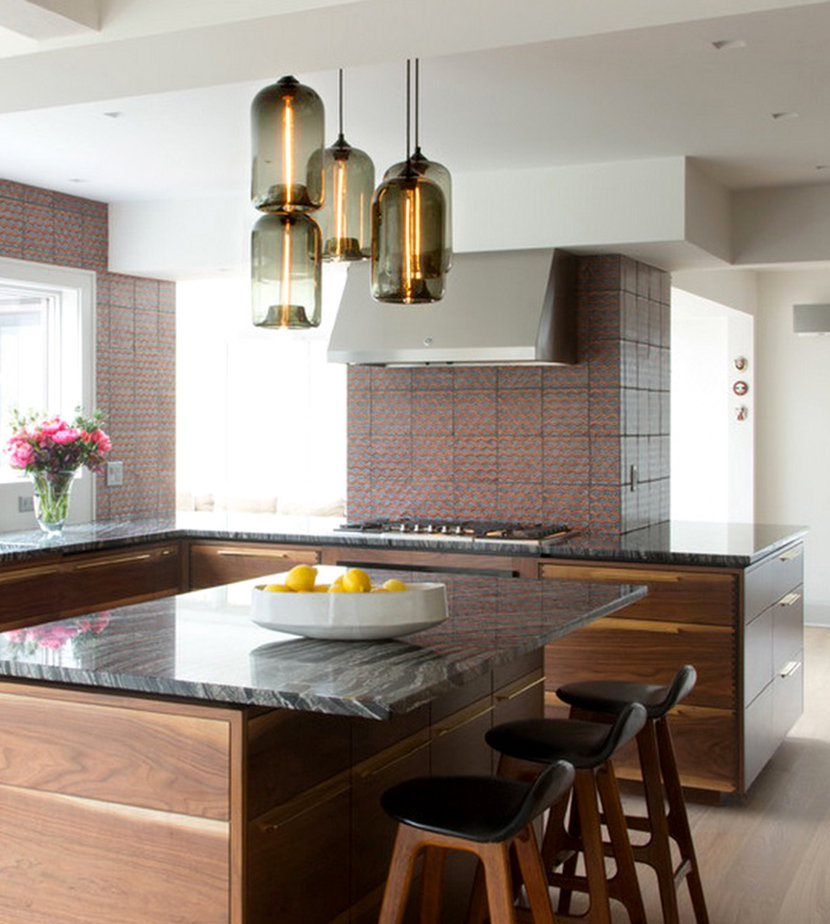 Modern Lighting Graces Kitchen And Bathroom In Westchester