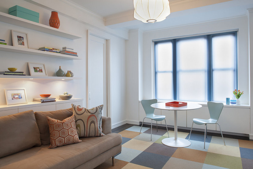 New York City apartment modern living room