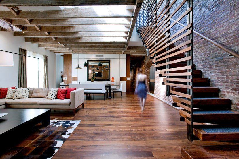 industrial-inspired home interior