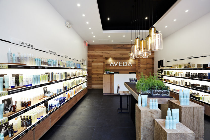 Retail Modern Lighting in Aveda Beauty Store