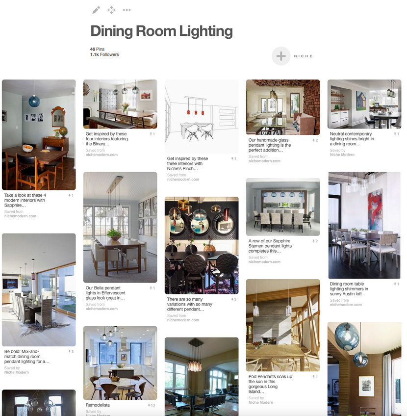 Niche Modern Dining Room Lighting Pinterest Board