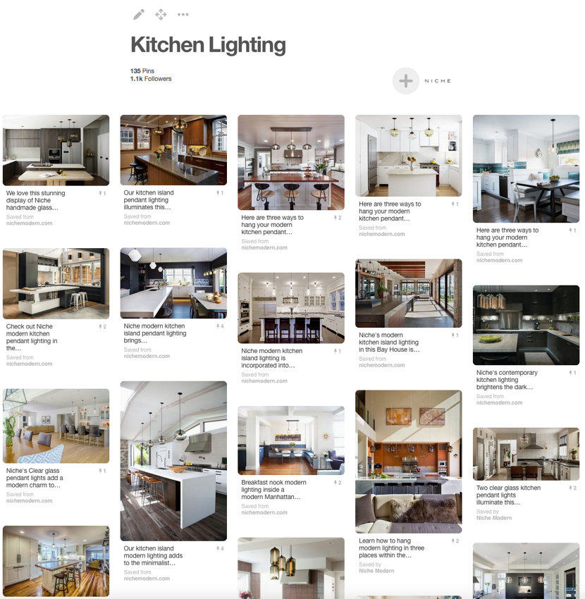 Niche Modern Kitchen Lighting Pinterest Board