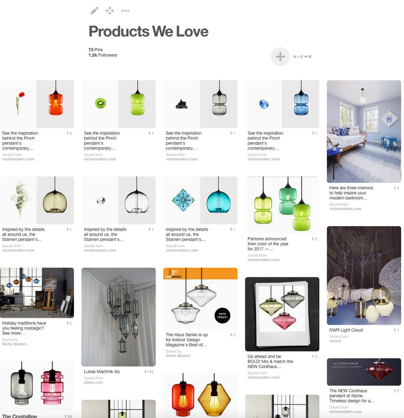 Niche Modern Products We Love Pinterest Board