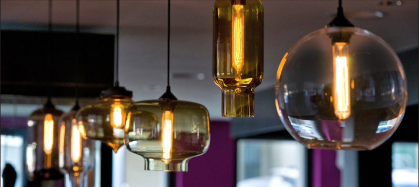 Modern Pendant Lights Above the Bar
