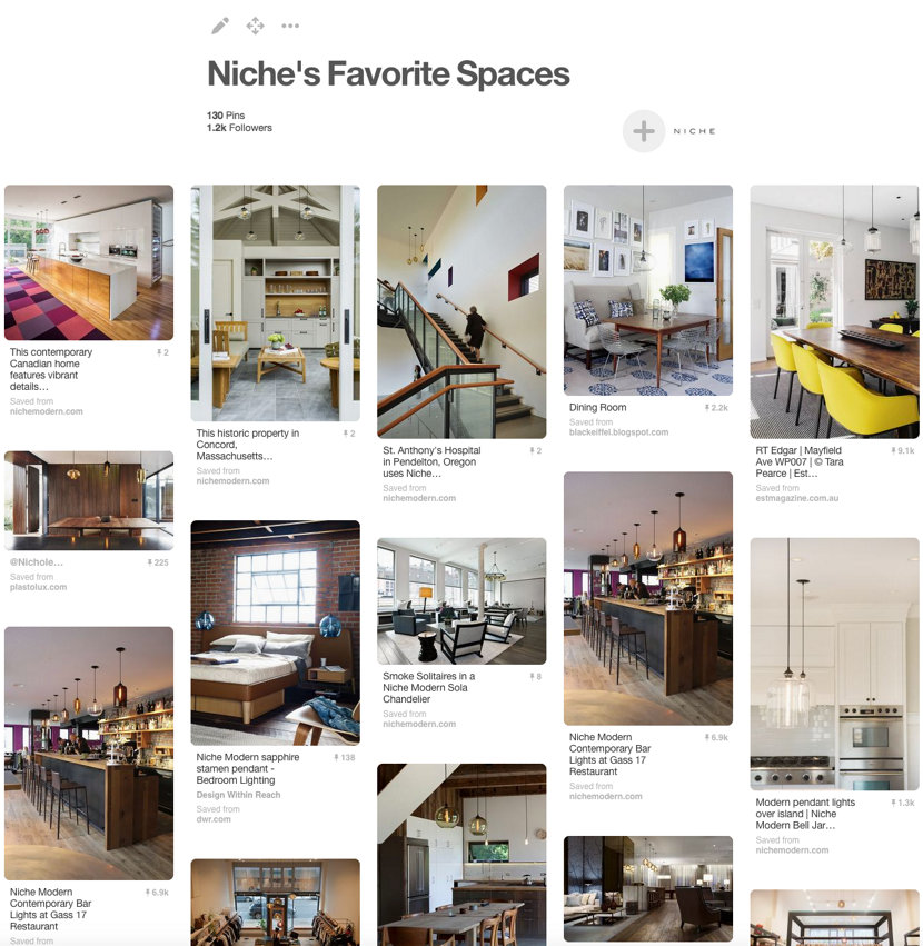 Niche's Favorite Spaces Pinterest Board