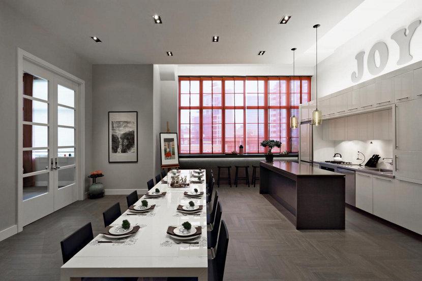 Modern Kitchen Lighting Shines Bright in Loft
