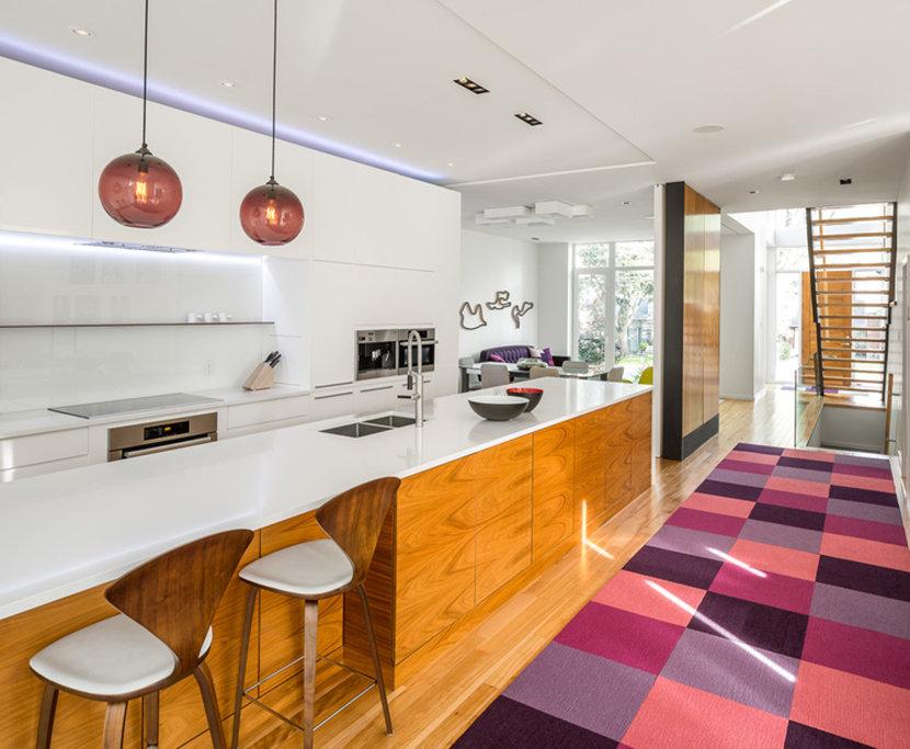 Plum Solitaire Pendants Complement Purple Tones in Room
