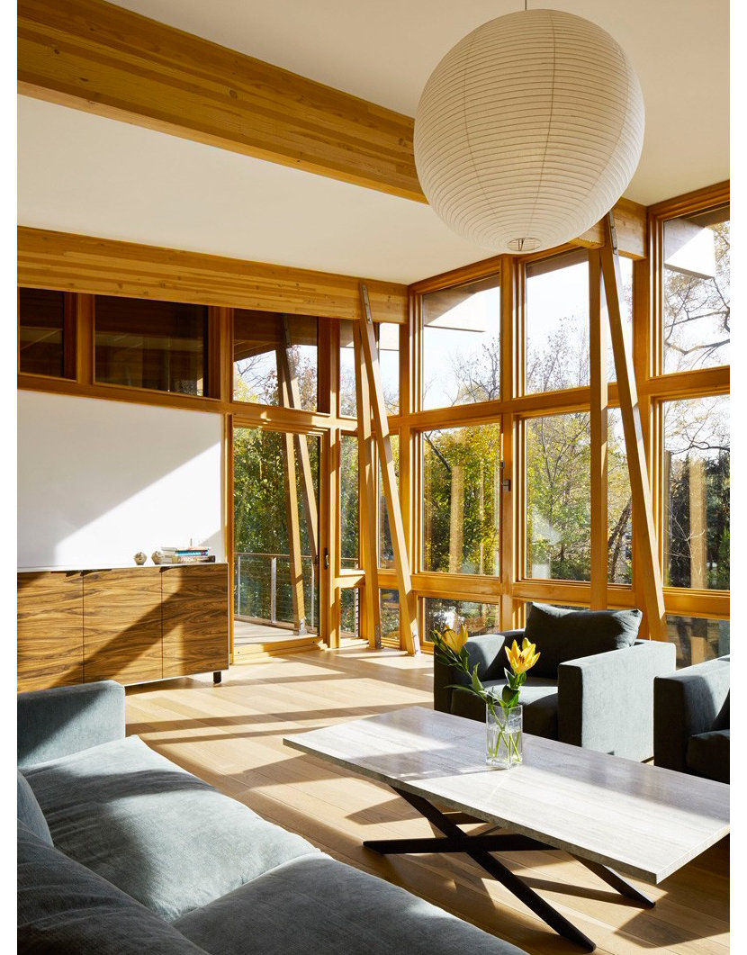 Interior of Sands Point House by architect Ole Sondresen