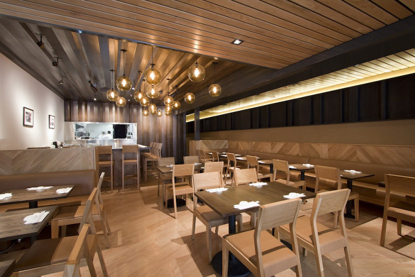 Sugarfish Beverly Hills Featuring Our Solitaire Pendants in Amber Glass